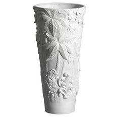 Jean Boggio Extraordinary Garden Tall Vase. Biggs Ltd. Gallery. Heirloom quality bridal and home decor. 1-800-362-0677. $1,329.