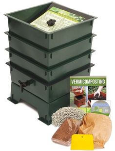 Worm Factory DS3GT 3-Tray Worm Composter, Green Worm Factory http://www.amazon.com/dp/B000S6LZBO/ref=cm_sw_r_pi_dp_7BEOtb17T2H8V8JZ