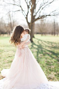 Wear your wedding gown for a baby portrait