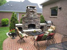 Deluxe Outdoor Fireplace