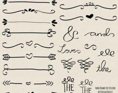 Krijt hand getrokken doodle tekst scheidingslijn swirly