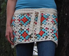 365 Crochet: Granny Square Apron Skirt Crochet Pattern