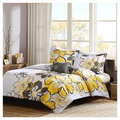 Home Essence Apartment Kelly Duvet Cover Set, Yellow Girls Comforter Sets, Duvet Sets, Duvet Cover Sets, Twin Comforter, Teen Bedding, Bed Sets, Yellow Bedding, Floral Bedding, Yellow Bedrooms