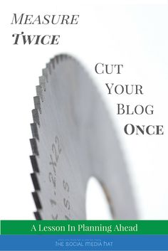 NEW BLOG POST! You are going to write a lot of blog posts over the years. The more best practices you adopt early on, the less time you'll have spend later fixing them! | https://www.thesocialmediahat.com/blog/measure-twice-cut-your-blog-once via @mikeallton