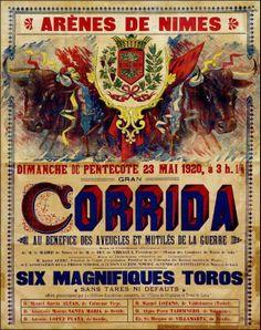 Affiche 1920. Nimes
