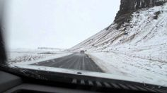 Iceland - Snowy drive from Skaftafell to Reykjavik on 20 Feb 2014. #winterdrivinginiceland