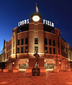 Catch a Rockies game at Coors Field which is located at 2001 Blake St.