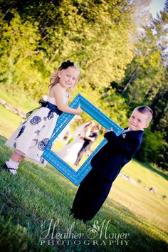 Flower girl and ring bearer -the nieces and nephew definitely are doing this! HeatherMayerPhotography