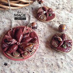 #necklace and #earrings #zentangle inspiration!  #customorder delivered!  #dolcimagie #madeinitaly #polymerclay #etsy #facebook #fattoamano #handmade
