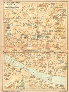 Cartina Di Firenze Centro Da Stampare.54 Idee Su Antiche Mappe Di Firenze E Della Toscana Mappe Firenze Toscana