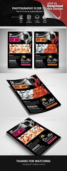 ad, advert, advertisement, camera, commercial, event, family, fashion, flyer, leaflet, model, pamphlet, photo, photographer, photography, photography flyer, photoshop, poster, professional, shoot, shooting, studio, studio photography flyer, template, theme, wedding Specification       CMYK Color Mode   300 DPI Resolution   Size 4×6 0.25 bleed     Features      Easily customization   Editable Text Layers   Smart Object Layer to Put Images   Well Organized Layer   Free Fonts are Used…