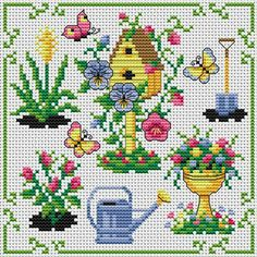 downloaded. Springtime in the Garden. Tons of FREE CROSS-STITCH PATTERNS at this site: http://cross-stitchers-club.com/?code_avantage=uucqid Plus, if you click on this link, http://cross-stitchers-club.com/?code_avantage=uucqid , you'll automatically receive a gift when you subscribe. I use this site all the time; there are hundreds of all different types of patterns, and there are new patterns added everyday. It's really worth a look.