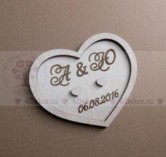 Подставка для колец на свадьбу