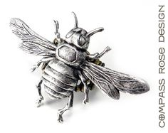Steampunk Ring Buzzing Bee Silver on Antiqued by CompassRoseDesign, $28.50