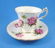Striking Pink Azalea Roslyn Tea Cup and Saucer Set