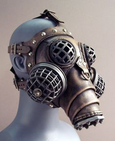 Dystopian, #Steampunk gas mask. Very cool!