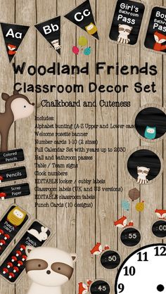 This beautiful woodland animal classroom decor set would be perfect for a classroom of little nature lovers and a great back to school welcome.