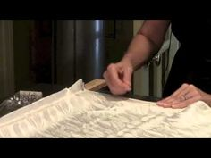 How to pin silk to a stretcher frame in preparation for painting.  Pamela Glose, www.MySilkArt.com