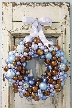 Beautiful Christmas Ornament Wreaths by ParteeCreations on Etsy