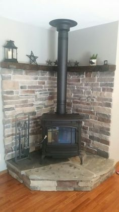 Best Free of Charge Pellet Stove wall Ideas Pellet stove tops are a great way to save cash whilst hot for the duration of people laid back cold months of . Home Fireplace, Wood, Pellet Stove, Brick Wall Decor, Wood Mantels, Wood Burning Stove Corner, Wood Stove Wall, Fireplace Hearth, Freestanding Fireplace