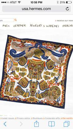 "Sous l'Egide de Mars Hermes silk twill scarf, hand rolled, 36"" x 36"" Ref. H002776S 19"