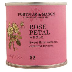 Rose Petals, 6g Tin -- We filled this tin with delicate and aromatic rose petals, which will add a touch of romance to puddings, cakes and champagne cocktails.