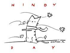 Windy (cat) day