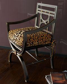 "John-Richard Collection ""Cheetah"" Roman Chair - Horchow"