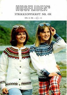 husfliden Eskimo jakke 458 Knit Jacket, Sweater Jacket, Knitting Stitches, Baby Knitting, Norwegian Knitting, Fair Isle Pattern, Knit Crochet, Sweaters, Handmade