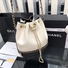 Chanel 2019 new woman drawstring bucket bag chain shoulder bags white blacm - Ch. - Chanel 2019 new woman drawstring bucket bag chain shoulder bags white blacm – Chanel Clothes – - Popular Handbags, Trendy Handbags, Cheap Handbags, Fashion Handbags, Purses And Handbags, Fashion Bags, Handbags Online, Latest Handbags, Fashion Women