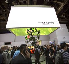 Curved TV Sculpture - Highlight Cube CES 2014 Samsung Booth by MDLab - Design…