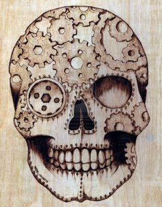 Steampunk Sugar Skull by DevenRue.deviantart.com on @deviantART
