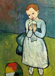 Pablo Picasso's Child with a Dove (1901). This was done when Picasso was 19 years old