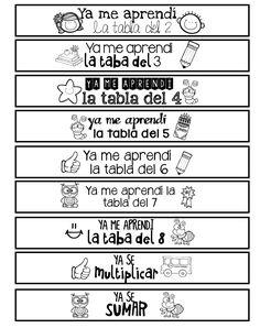 pulseras-brazaletes-logros School Items, I School, Back To School, Math Work, Teacher Notes, Binder Covers, Social Science, Self Development, School Projects
