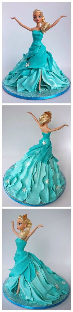 Elsa Doll Cake Tutorial
