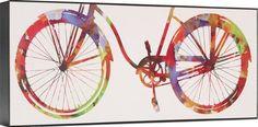Bike Ride I Abstract Cycling Bicycle Riding Bike Biking Art Deco Canvas 15x39…