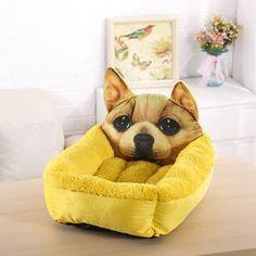 Fashion Pet Cat Cushion Cartoon Soft Puppy Dog Plush Bread Toast Bed Mat Seat Z