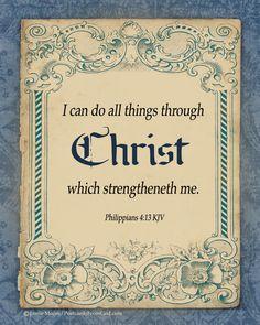 Philippians 4:13...More at http://design.christianpost.com