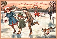 Reprint of retro Christmas card, 10 x 15, Ukraine