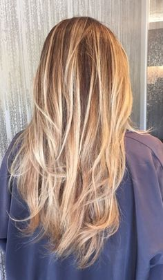 Hints of honey blonde highlighted throughout a naturally darker blonde base