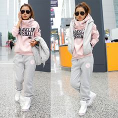 Casual Urban Winter. Sweater Pants. Sneakers. Jumper and Vest. Sneakers Outfit. Urban Outfit. Hip Hop Fashion. Swag