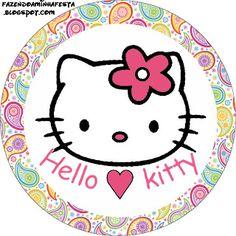 Fazendo a Minha Festa - Kits Completos: Hello Kitty - Kit Completo com molduras para convites, rótulos para guloseimas, lembrancinhas e imagens!