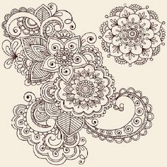 Paisley patterns, love the detail now just add color and swirlies