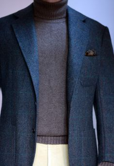 two-button jacket and half-roll 3-2 jacket