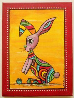 "Tableau du petit lapin ""Karott"""