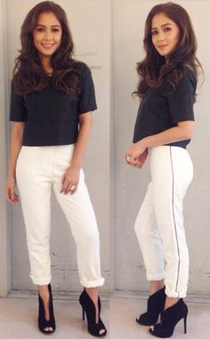 Maja Salvador Maja Salvador, Filipina, Fashion Pants, White Jeans, Girl Outfits, Actresses, Celebrities, Sexy, Instagram