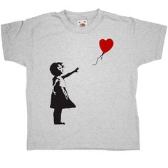 Banksy kids t-shirt - Girl with balloon from 8Ball.co.uk