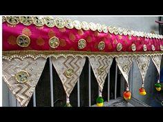 How to Make TORAN for door hangings at home/Bandhanwar / Diwali crafts 2019 Door Hanging Decorations, Diwali Decorations At Home, Diwali Craft, Kurti Neck Designs, Gift Packaging, Bottle Crafts, Craft Videos, Quilling, Wedding Gifts