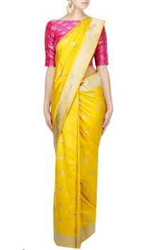 Swati And Sunaina Indian Designer Hand Woven Silk Sarees Online