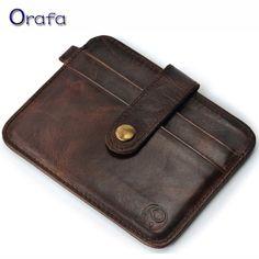 2016 New style Mini wallets hasp small purse 100% real leather vintage wallet men purses male clutch crazy horse leather -- Ini pin AliExpress affiliate.  Mengklik pada gambar akan membawa anda untuk menemukan produk serupa